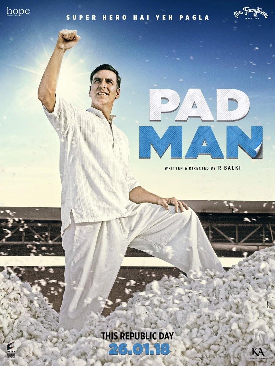 Akshay Kumar,actor Akshay Kumar,Padman,Padman poster,Padman new poster,Akshay Kumar turns Superhero
