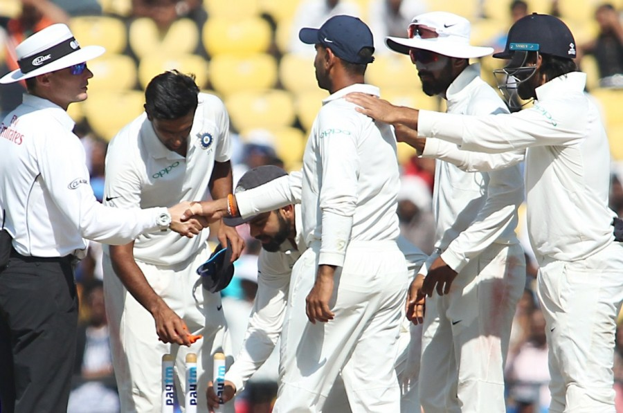 India beat Sri Lanka,India beat Sri Lanka in second Test,India trash Sri Lanka,India beat Sri Lanka by 239 runs,India beat Sri Lanka by an innings,Virat Kohli,Ravichandran Ashwin