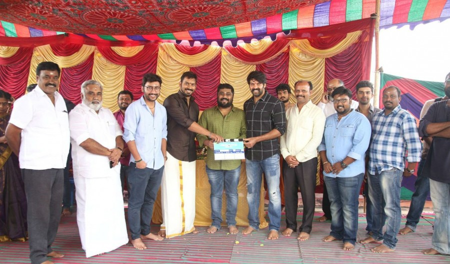 Arya,Gnanavel Raja,RJ Balaji,GajiniKanth movie launch,GajiniKanth movie pooja,GajiniKanth,GajiniKanth movie pooja pics,GajiniKanth movie pooja images,GajiniKanth movie pooja stills,GajiniKanth movie pooja pictures,GajiniKanth movie pooja photos
