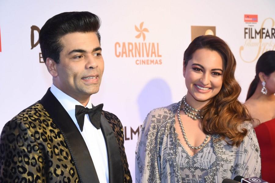 Harshvardhan Kapoor,Sonam Kapoor,Karan Johar,Sonakshi Sinha,Huma Qureshi,Filmfare Glamour & Style Awards 2017,Filmfare Glamour & Style Awards,celebs at Filmfare Glamour & Style Awards 2017