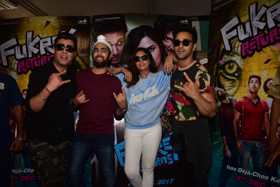Pulkit Samrat,Richa Chadha,Varun Sharma,Manjot Singh,Team Fukrey Returns,Fukrey Returns,Fukrey Returns team