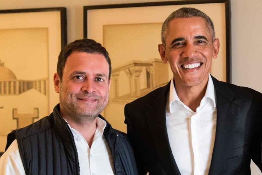 Rahul Gandhi,Barack Obama,Rahul Gandhi meets Barack Obama,Congress Vice President Rahul Gandhi,ormer US President Barack Obama,US-India relationship,Rahul meets Obama