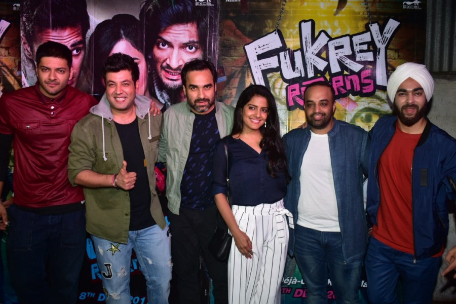 Varun Sharma,Manjyot Singh,Ali Fazal,Pankaj Tripathi,Ritesh Sidhwani,Fukrey Returns success meet,Fukrey Returns,Fukrey Returns success meet pics,Fukrey Returns success meet images,Fukrey Returns success meet stills,Fukrey Returns success meet pictures,Fuk
