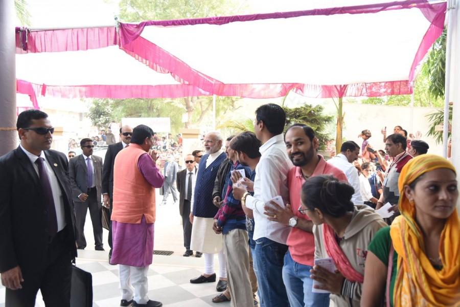 Gujarat Assembly elections,Gujarat Assembly elections second phase,gujarat assembly elections 2017,Narendra Modi casts his vote,Narendra Modi,PM Narendra Modi,Modi casts vote,Modi casts vote in Gujarat polls,INS Kalvari