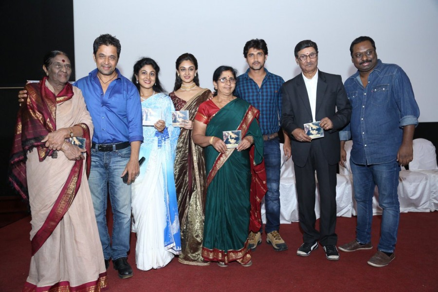 Chandan Kumar,Aishwarya Arjun,Arjun Sarja,Prema Baraha audio launch,Prema Baraha music launch,Prema Baraha audio launch pics,Prema Baraha audio launch images,Prema Baraha audio launch stills,Prema Baraha audio launch pictures,Sadhu Kokila,Rangayana Raghu