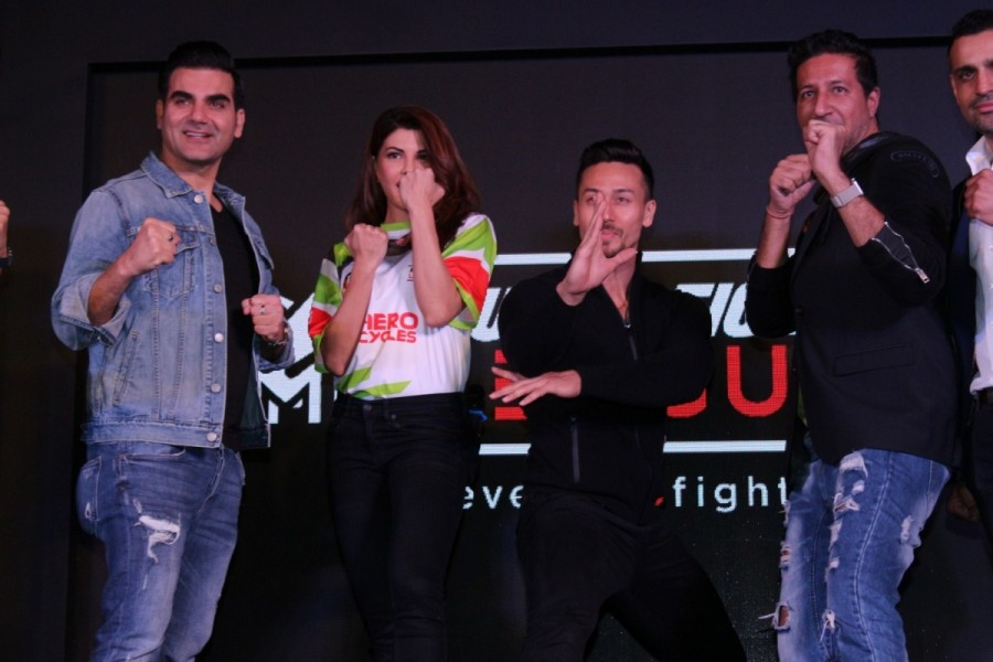 Jacqueline Fernandez,Tiger Shroff,Salim Merchant and Sulaiman Merchant,Super Fight League Season 2 launch,Super Fight League Season 2,Super Fight League