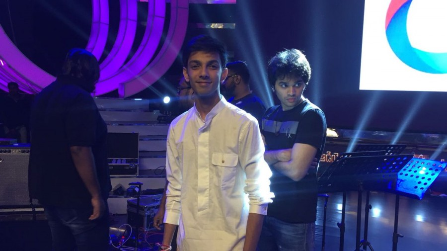 Anirudh Ravichander,Music composer Anirudh Ravichande,Pawan Kalyan,Agnyaathavaasi audio launch,Agnyaathavaasi musi launch,Agnyaathavaasi audio launch pics,Agnyaathavaasi audio launch images,Agnyaathavaasi audio launch stills,Agnyaathavaasi audio launch pi