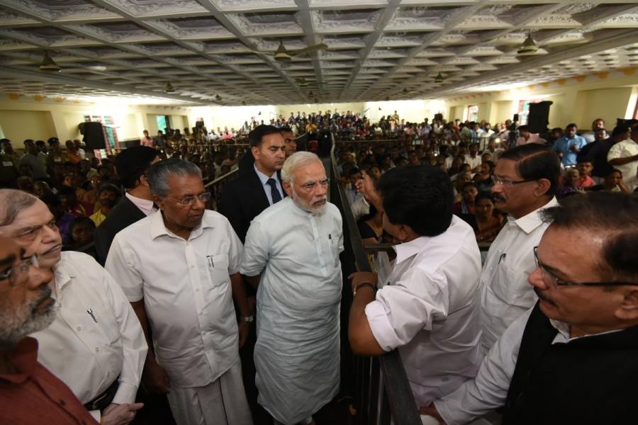 PM Narendra Modi,Narendra Modi,Modi visits cyclone-hit TN,Modi visits cyclone-hit,Lakshadweep