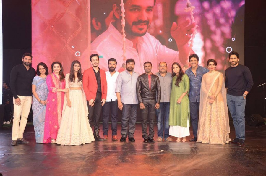 Chiranjeevi,Ram Charan,Naga Chaitanya,Samantha,Nagarjuna,Hello movie Pre Release event,Hello Pre Release event,Hello,Hello review,Hello movie review