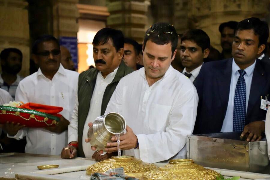 Rahul Gandhi,Rahul Gandhi at Somnath Temple,Rahul Gandhi in Gujarat,Rahul Gandhi visit Gujarat,Congress President Rahul Gandhi