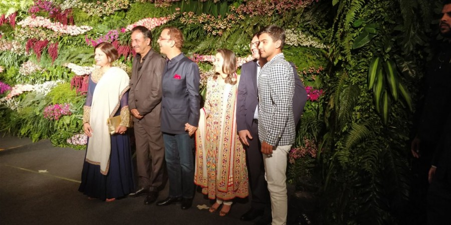 Ravindra Jadeja,Sandeep Patil,Virat Kohli and Anushka Sharma,Virat Kohli and Anushka Sharma Mumbai reception,Virat Kohli Mumbai reception,Anushka Sharma Mumbai reception,Boman Irani
