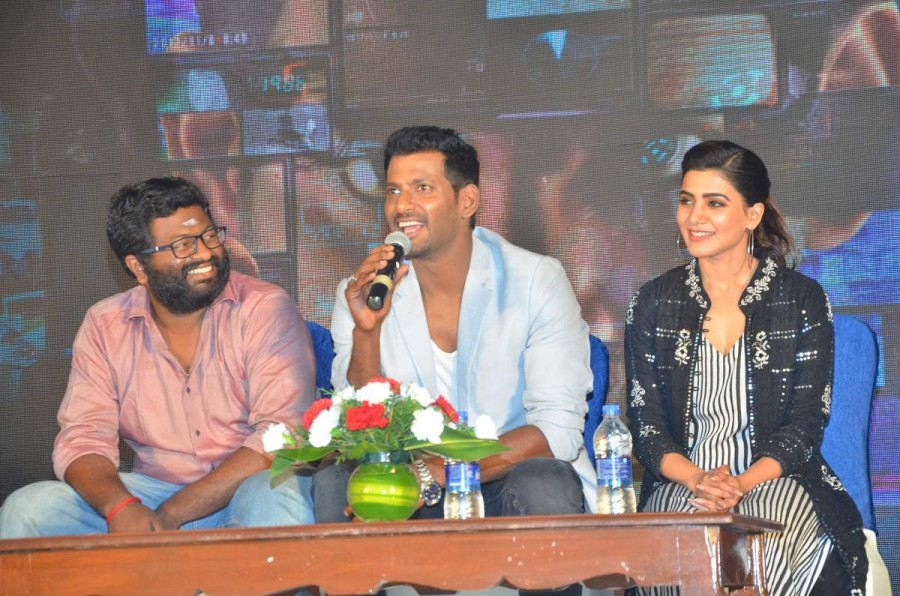 Vishal,Samantha Akkineni,Irumbu Thirai teaser launch,Irumbu Thirai teaser,Irumbu Thirai teaser launch pics,Irumbu Thirai teaser launch images,Irumbu Thirai teaser launch stills,Irumbu Thirai teaser launch pictures,Irumbu Thirai teaser launch photos