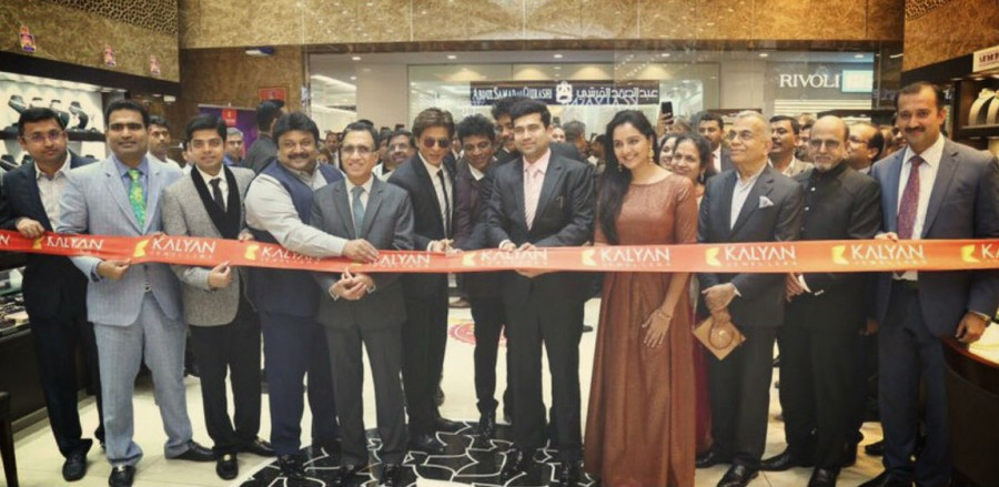 Shah Rukh Khan,Akkineni Nagarjuna,Prabhu,Shiva Rajkumar,Kalyan Jewellers Showroom,Kalyan Jewellers Showroom launch,SRK at Kalyan Jewellers Showroom,SRK inaugurate Kalyan Jewellers