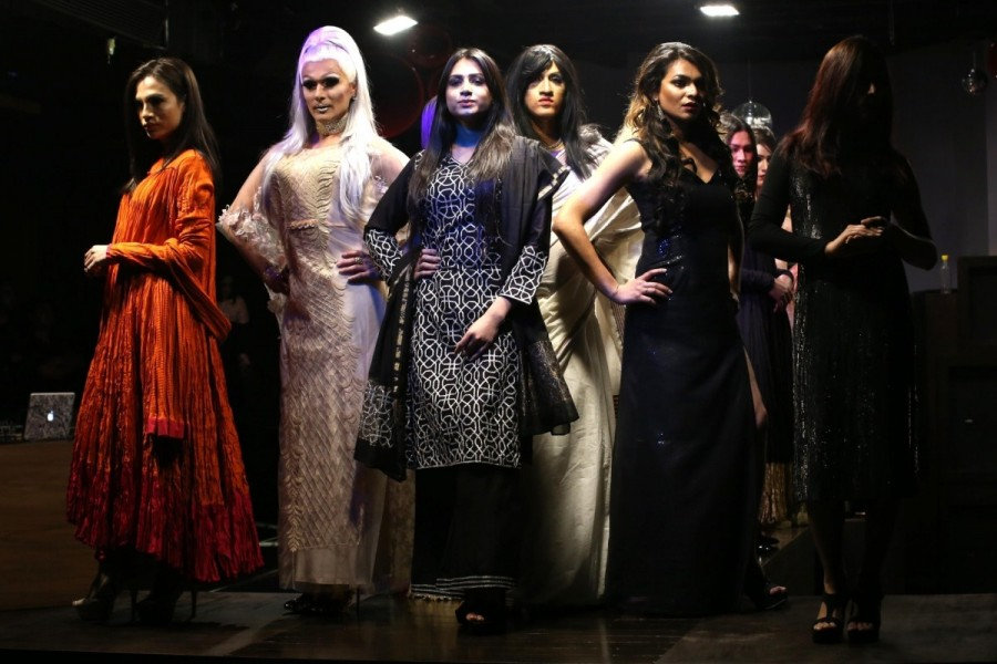 Transgender models,Transgender models catwalk,Transgender fashion show,Transgender fashion show in Delhi,Miss Trans Queen India,Miss Trans Queen