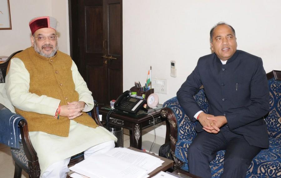 Jai Ram Thakur meets Amit Shah,Jai Ram Thakur,Amit Shah,Himachal Pradesh Chief Minister Jai Ram
