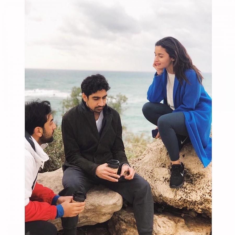 Ranbir Kapoor and Alia Bhatt,Ranbir Kapoor,Alia Bhatt,Filmmaker Karan Johar,Karan Johar,Brahmastra,Brahmastra on the sets