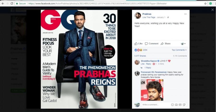 Saaho,Shraddha Kapoor,actress Shraddha Kapoor,Shraddha Kapoor  and Prabhas,Prabhas,Prabhas on GQ cover,GQ cover
