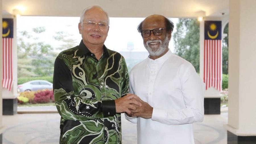 Superstar Rajinikanth,Rajinikanth,Rajinikanth meets Najib Razak,Najib Razak,Malaysian Prime Minister Najib Razak