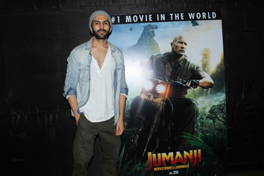 Varun Dhavan,Kartik Aryan,Jumanji,Jumanji special screening,Jumanji: Welcome to the Jungle,Jumanji special screening pics,Jumanji special screening images,Jumanji special screening stills,Jumanji special screening pictures,Jumanji special screening photos
