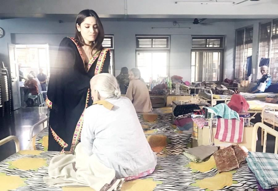 Ankita Lokhande,Ankita Lokhande at old age home,Pavitra Rishta,Pavitra Rishta actress Pavitra Rishta,Manikarnika