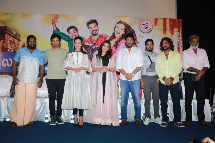 Sundar C,Jiiva,Hiphop Tamizha,Manobala,Nikki Galrani,Catherine Tresa,Robo Shankar,Kalakalappu 2,Kalakalappu 2 press meet,Kalakalappu 2 press meet pics,Kalakalappu 2 press meet images,Kalakalappu 2 press meet stills,Kalakalappu 2 press meet pictures,Kalaka