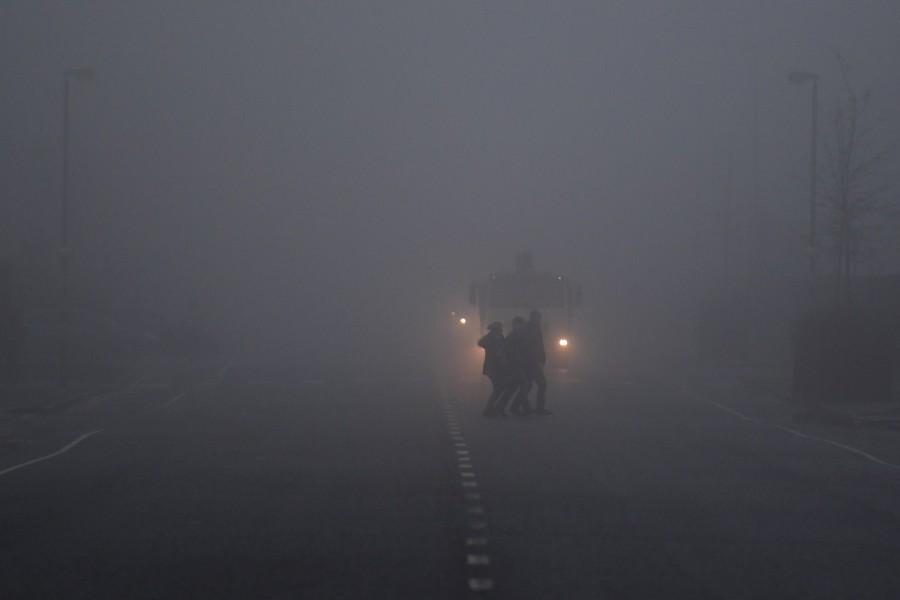 Northern Ireland,Ireland,fog,Ireland hidden in fog