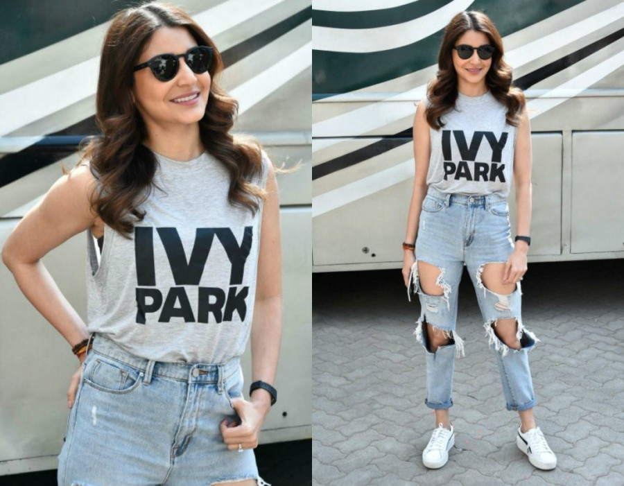 Anushka Sharma,actress Anushka Sharma,Anushka Sharma at Zero shoot,Zero shoot,Anushka Sharma in jeans,Anushka Sharma jeans pics,Anushka Sharma latest pics,Anushka Sharma latest images,Anushka Sharma latest stills,Anushka Sharma latest pictures,Anushka Sha