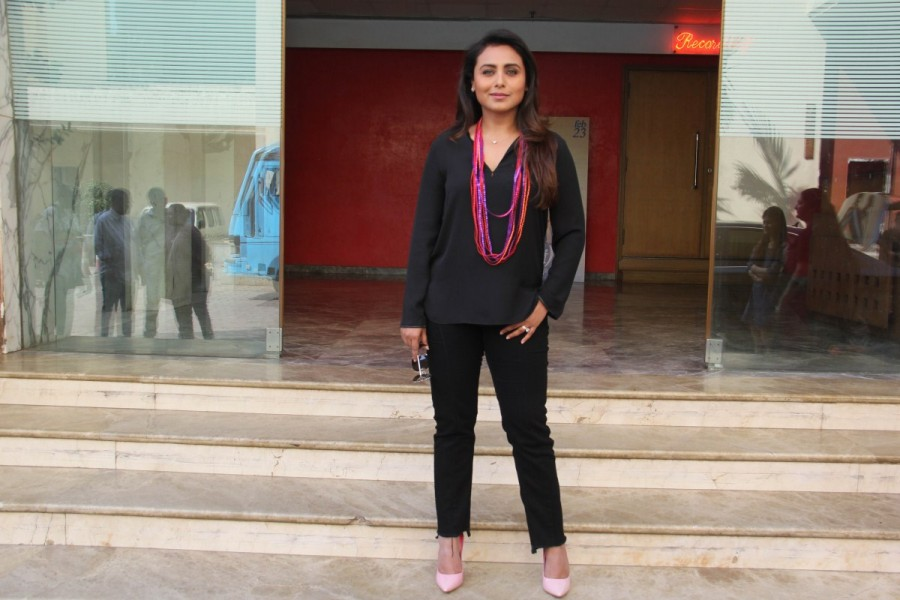 Rani Mukerji,actress Rani Mukerji,Rani Mukerji promotes Hichki,Rani Mukerji promotes Hichki movie,Hichki movie,Hichki promotion,Hichki movie promotion