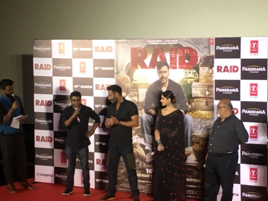 Ajay Devgn,Ileana D'Cruz,Raid trailer,Raid trailer launch,Raid trailer launch pics,Raid trailer launch images,Raid trailer launch stills,Raid trailer launch pictures,Raid trailer launch photos