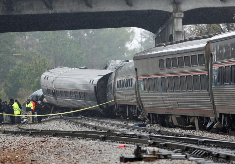 Amtrak passenger train,parked freight train,South Carolina,South Carolina train accident