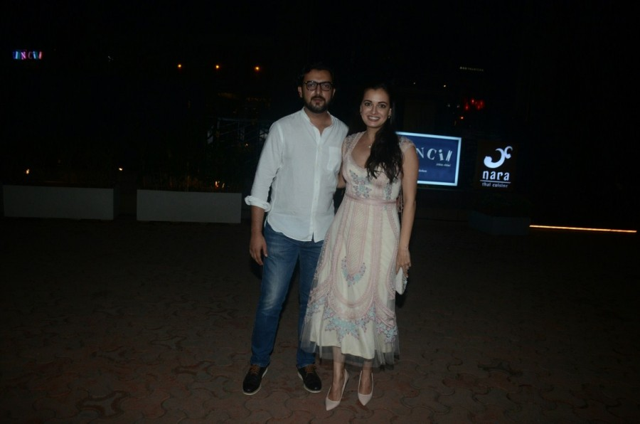 Dia Mirza,Actress Dia Mirza,Sahil Sangha,Dia Mirza and Sahil Sangha,Dia Mirza and Sahil Sangha at BKC,Dia Mirza latest pics,Dia Mirza latest images,Dia Mirza latest stills,Dia Mirza latest pictures,Dia Mirza latest photos