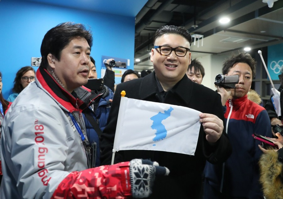 Kim Jong Un,Kim Jong Un lookalike,Celebs lookalike,2018 Winter Olympics,Kim Jong Un lookalike pics,Kim Jong Un lookalike images,Korean hockey team