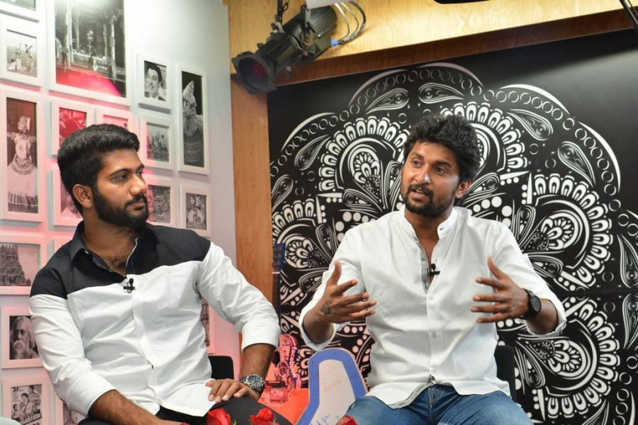 Nani,actor Nani,Ame,Ame promotion,Ame promotion at Facebook office,Facebook office,Telugu movie,Telugu movie promotion