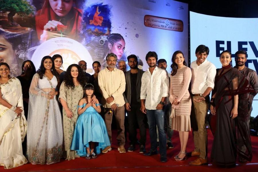 Nani,Anushka Shetty,Kajal Agarwal,Nithya Menen,SS Rajamouli,Awe pre-release event,Awe pre-release,telugu movie Awe,Awe,Awe poster,Awe wallpaper