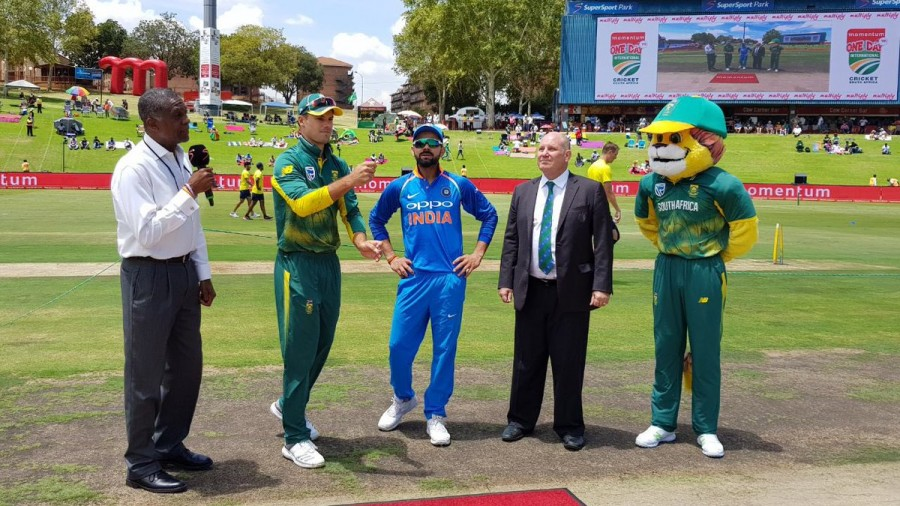 India elect to bowl,india vs south africa,India vs South Africa sixth ODI,Virat Kohli,Virat Kohli won the toss
