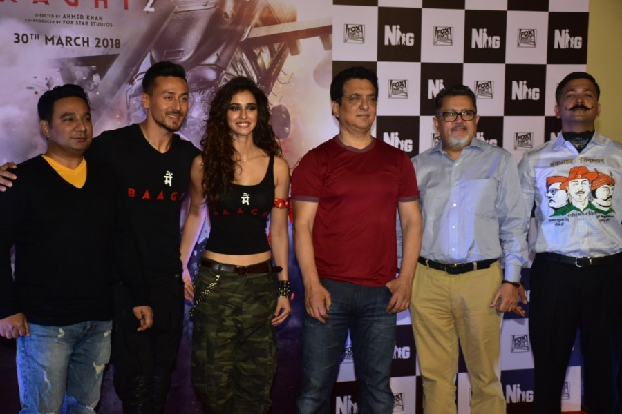 Sajid Nadiadwala,Baaghi 2,Baaghi 2 trailer,Baaghi 2 trailer launch,Baaghi 2 movie trailer launch,Tiger Shroff,Disha Patani,Bollywood movie,Bollywood new trailer,Bollywood trailer