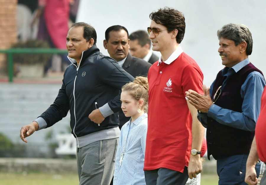 Justin Trudeau,Canadian Prime Minister Justin Trudeau,Justin Trudeau india visit,Justin Trudeau in India,Kapil Dev,Mohammad Azharuddin