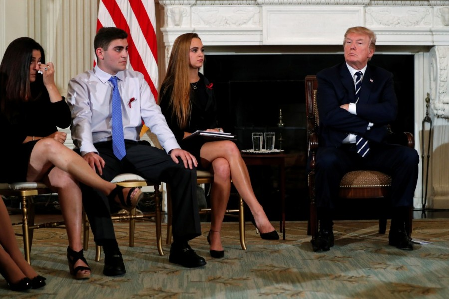 President Donald Trump,Donald Trump,Donald Trump meets Florida school survivors,Florida school survivors,Florida school shooting survivors