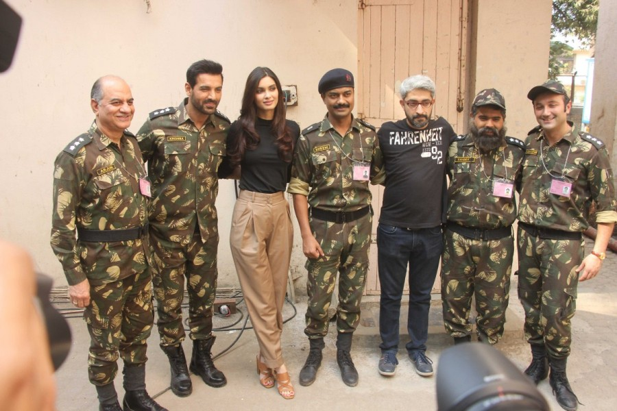 Parmanu,Parmanu promotion,Parmanu movie promotion,John Abraham and Diana Penty,John Abraham,Diana Penty,Parmanu wallpaper,Parmanu poster