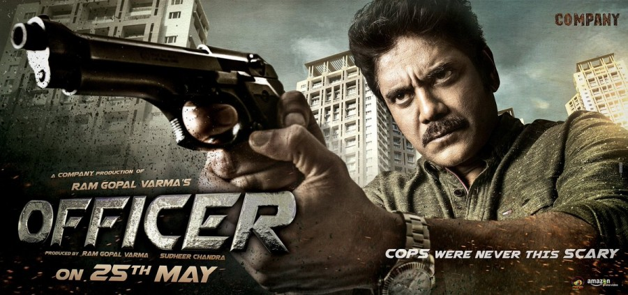 Nagarjuna Akkineni,actor Nagarjuna Akkineni,Ram Gopal Varma,Officer first look,Officer first look poster,Officer poster