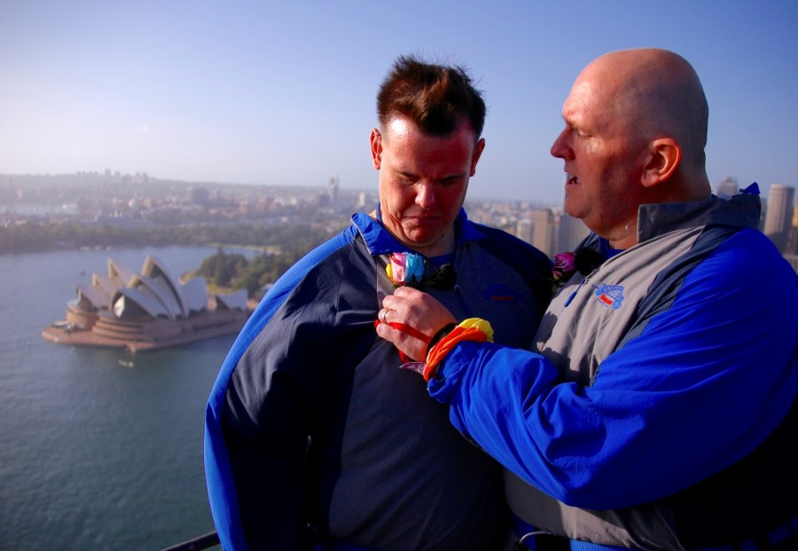 Sydney Harbour Bridge,Warren Orlandi and Pauly Phillips,Warren Orlandi,Pauly Phillips,same sex wedding
