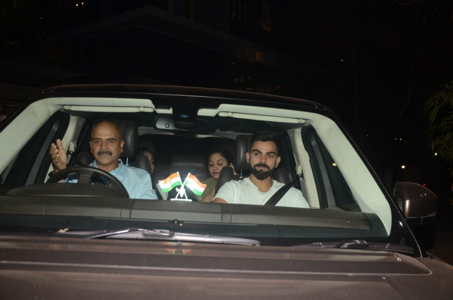 Pari special screening,Pari screening,Virat Kohli,Anushka Sharma,Virat Kohli at Pari special screening,Virat Kohli at Pari screening,Virat Kohli and Anushka Sharma,Anushka Sharma family