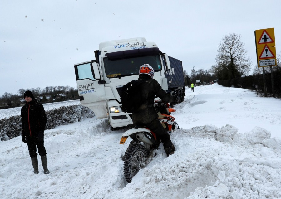 Snow storms,Britain and Ireland,Siberia blasted Britain and Ireland
