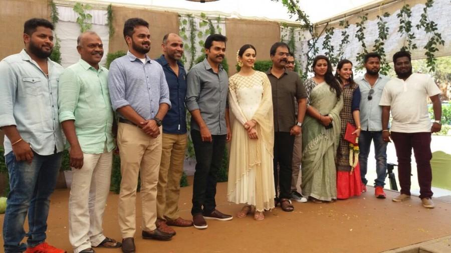 Suriya,Karthi,Sivakumar,Rakul Preet,Karthi 17,Karthi 17 movie launch,Karthi 17 movie launch pics,Karthi new movie,Karthi-Rakul Preet,rakul preet singh