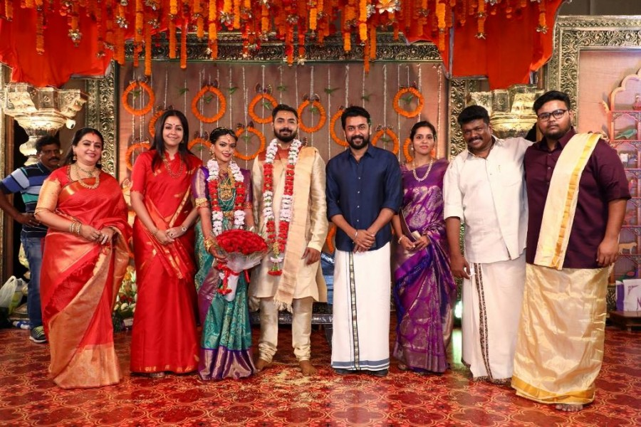 Surya,Jyothika,Prabhu Deva,Vignesh Shivan,Vivek,Keerthana and Akshay wedding,Keerthana and Akshay marriage,Celebs at Keerthana and Akshay wedding