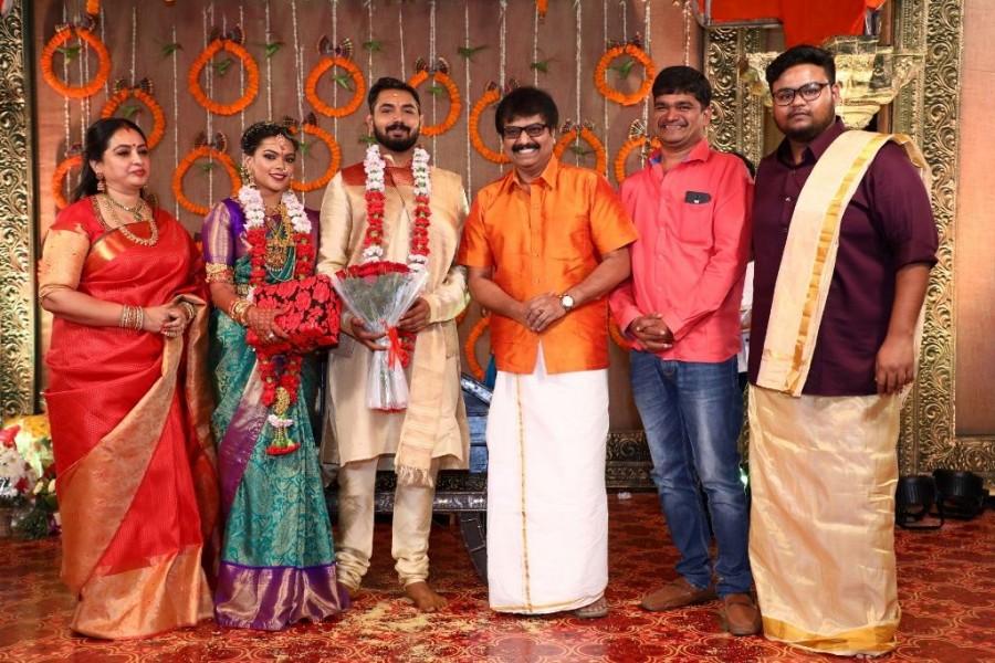 Surya,Jyothika,Prabhu Deva,Vignesh Shivan,Vivek,Keerthana and Akshay wedding,Keerthana and Akshay marriage,Celebs at Keerthana and Akshay wedding