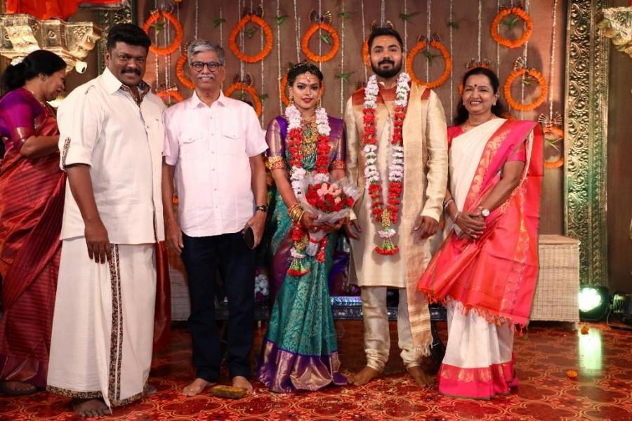 Bhagyaraj,Shanthanu,Ilayaraja,MK Stalin,Edapadi Palaniswami,Keerthana and Akshay wedding,Keerthana and Akshay marriage,Keerthana and Akshay wedding pics,Keerthana and Akshay marriage pics
