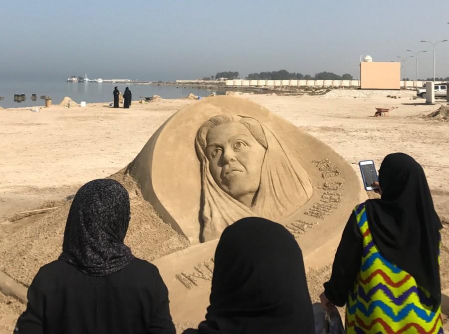 Sudarsan Pattnaik,sand artist Sudarsan Pattnaik,sand artist,International Women's Day,Women's Day,Princess Sabeeka,Sabeeka sand art