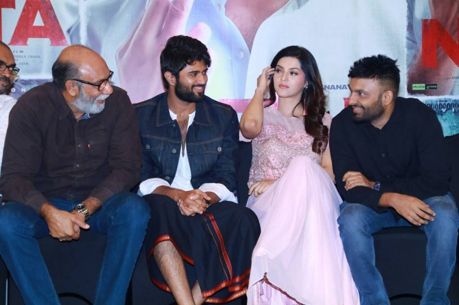 Vijay Devarakonda,Mehreen Pirzada,Sathyaraj,Nota press meet,Nota movie press meet,Nota press meet pics,Nota press meet images,Nota,Telugu movie Nota