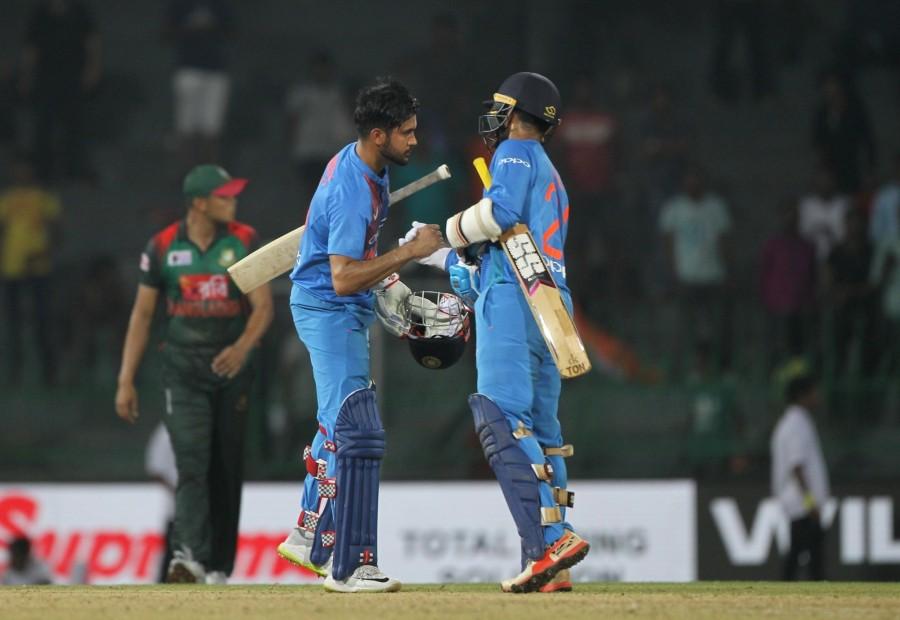 India beat Bangladesh,India beat Bangladesh by 6 wickets,Nidahas Trophy,Shikhar Dhawan,Rohit Sharma